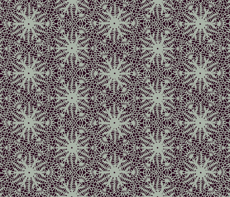 crocus snowflake pale green fabric by whatever-works on Spoonflower - custom fabric
