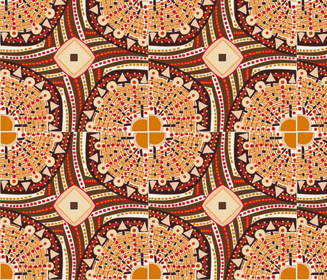 ras el hanout colored sun tiles fabric by lalalamonique on Spoonflower - custom fabric