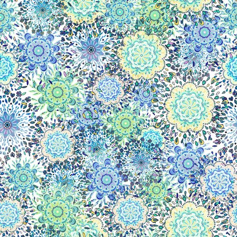 Mandala Pattern Tile fabric by carolinacotoart on Spoonflower - custom fabric