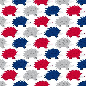 Hedgehogs on Parade (Red, White and Blue)