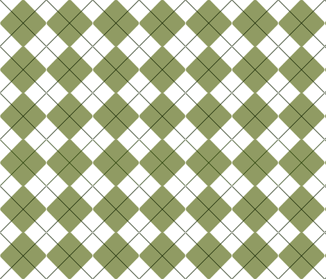 Olive Green and White Pinstripe Argyle fabric by ms__contrary on Spoonflower - custom fabric