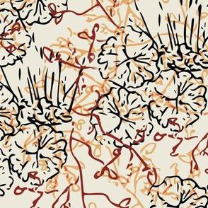 Fancy Foliage - Cream
