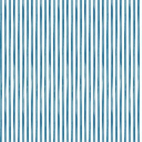 White and blue Striped Fabric