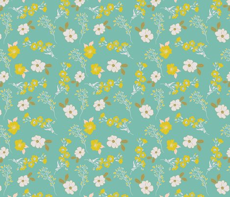 spring white dogwood fabric by melissaharrell on Spoonflower - custom fabric