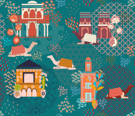 Streets of Marrakesh fabric by another_village on Spoonflower - custom fabric