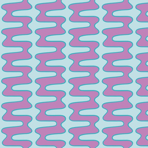 Groovy 70s double swirl light purple blue