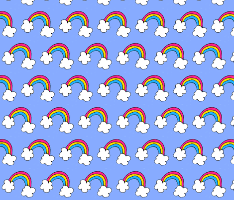 Pan Pride Rainbow fabric by paisley_and_lace on Spoonflower - custom fabric