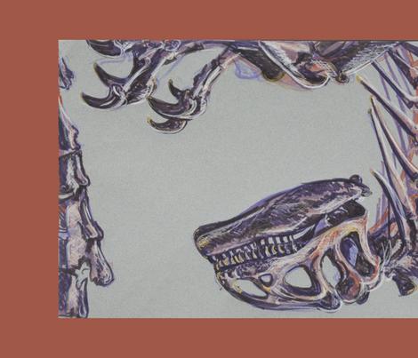 Allosaurus Tea Towel fabric by blueskitty on Spoonflower - custom fabric