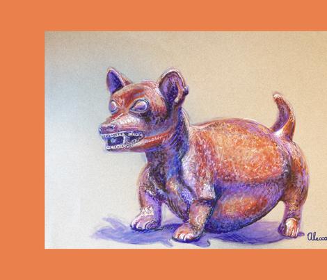 Dog Pot Tea Towel fabric by blueskitty on Spoonflower - custom fabric