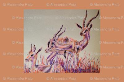 Thompson Gazelles Tea Towel