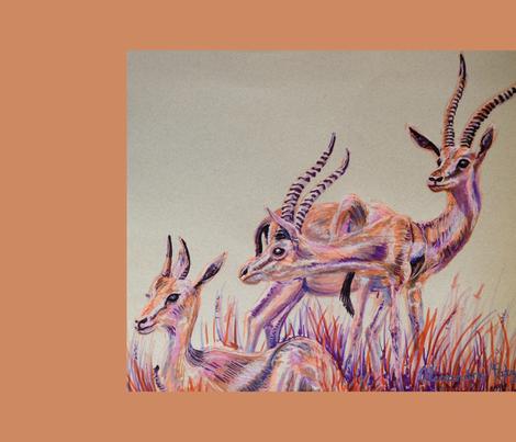 Thompson Gazelles Tea Towel fabric by blueskitty on Spoonflower - custom fabric