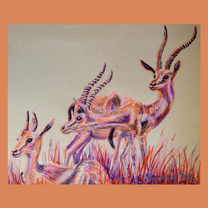 Thompson Gazelles Tea Towel
