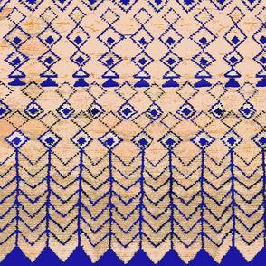 Marrakesh Peach and Blue