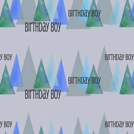 birthday boy fabric by lnd_art on Spoonflower - custom fabric