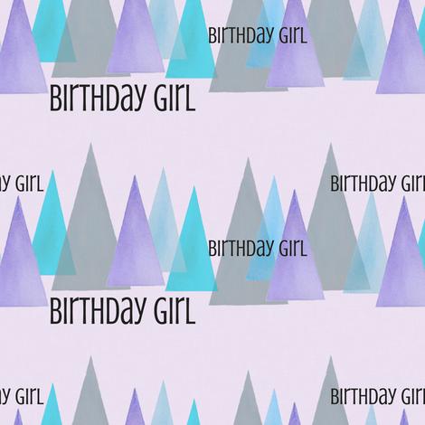 birthday girl fabric by lnd_art on Spoonflower - custom fabric