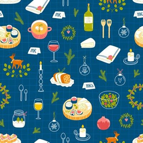 Winter dinner party pattern