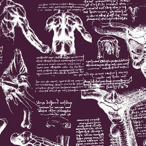 Da Vinci's Anatomy Sketchbook // Blackberry // Large