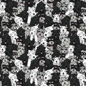 Cartoon Schnauzer Collage Small