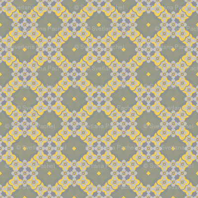 seamless pattern of lace geometric Marrakesh style