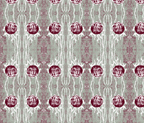 Cranberry Splash Flaming High Ball - Mod mellow times with Franky  fabric by walkwithmagistudio on Spoonflower - custom fabric