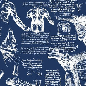 Da Vinci's Anatomy Sketchbook // Regal Blue // Large