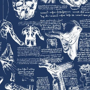 Da Vinci's Anatomy Sketchbook // Regal Blue // Small