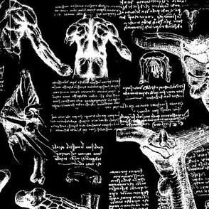 Da Vinci's Anatomy Sketchbook // Black // Large