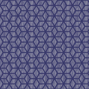 Textures - diamond blocks navy medium