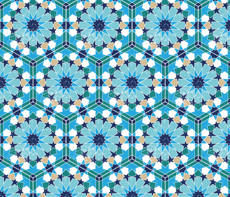 Zellige fabric by lucyconway on Spoonflower - custom fabric