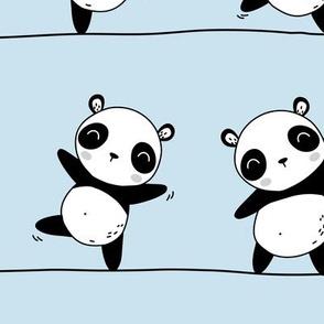 Pandaline - baby blue - BIG