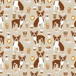 Boston Terrier Coffee (smaller scale) red coat sand