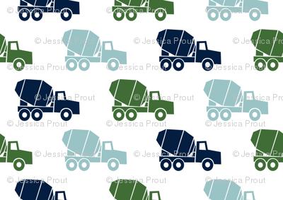 mixer trucks - multi - navy,blue,green