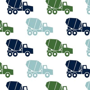 mixer trucks - multi - navy,blue,green