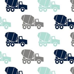 mixer trucks - multi - grey, aqua, navy