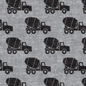 mixer trucks - black on grey W