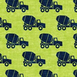 mixer trucks - blue moon green W