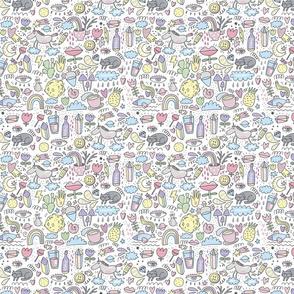 Cute unicorn lifestyle pattern