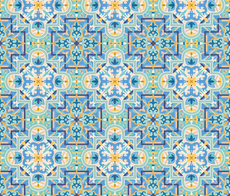 Marrakech Mosaic fabric by matite on Spoonflower - custom fabric