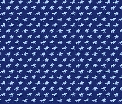 Navy Race Horses, Tiny fabric by ladyspring on Spoonflower - custom fabric