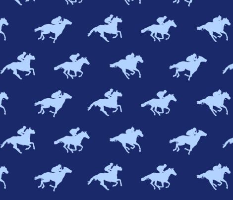 Navy Race Horses fabric by ladyspring on Spoonflower - custom fabric
