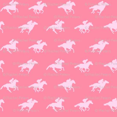 Pink Race Horses