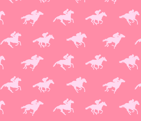 Pink Race Horses fabric by ladyspring on Spoonflower - custom fabric