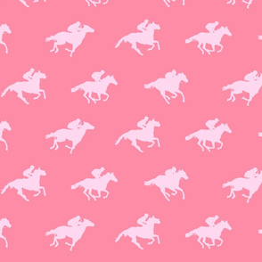 Pink Race Horses