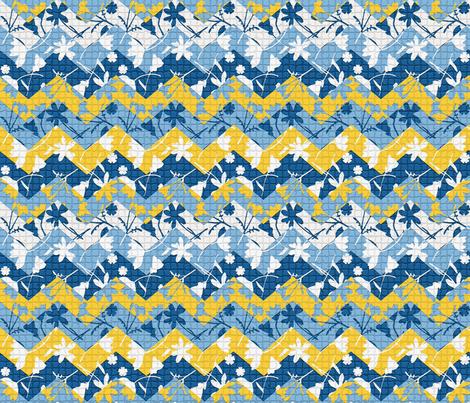 moroccan tile chevron fabric by mypetalpress on Spoonflower - custom fabric