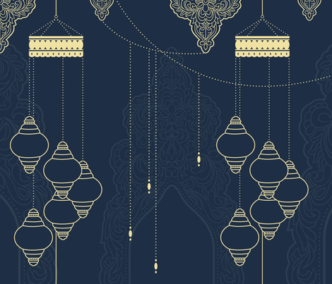 Moroccan Nights fabric by designs_by_miss_mandee on Spoonflower - custom fabric