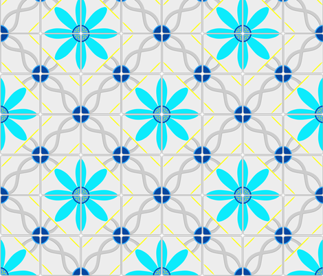 Marrakesh tile fabric by everhigh on Spoonflower - custom fabric