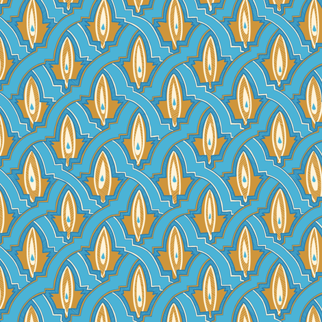 patterns of morocco blue fabric by torysevas on Spoonflower - custom fabric