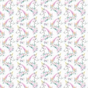 sweet unicorn floral - rainbow small