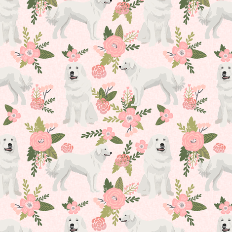 great pyrenees pet quilt d dog breed fabric quilt collection floral fabric by petfriendly on Spoonflower - custom fabric