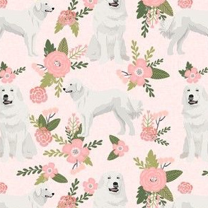 great pyrenees pet quilt d dog breed fabric quilt collection floral